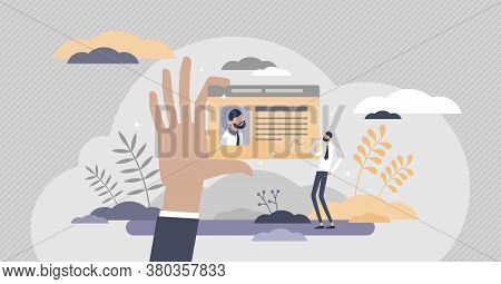 License As Legal Document For Identification Certificate Flat Tiny Persons Concept. Driving Licence