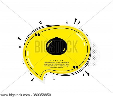 Macadamia Nut Icon. Quote Speech Bubble. Tasty Nuts Sign. Vegan Food Symbol. Quotation Marks. Classi