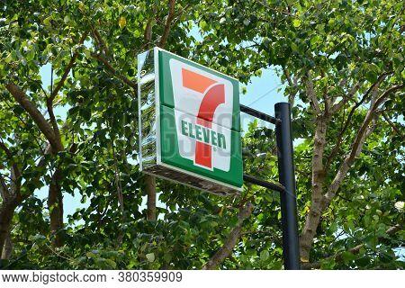Aurora, Ph - April 21 - 7 Eleven Convenience Store Sign Post On April 21, 2019 In Dingalan, Aurora,