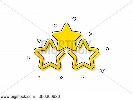 Star Rating Sign. Ranking Stars Icon. Best Rank Symbol. Yellow Circles Pattern. Classic Ranking Star