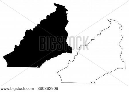 Bell County, Kentucky (u.s. County, United States Of America, Usa, U.s., Us) Map Vector Illustration