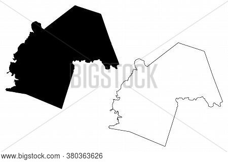 Butler County, Kentucky (u.s. County, United States Of America, Usa, U.s., Us) Map Vector Illustrati