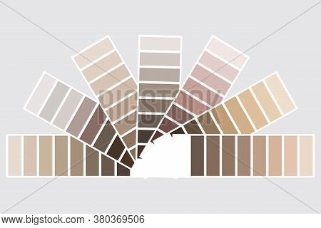 Color Palette. Beige Set Of Shades. A Palette Of Pastel Colors. Palettes Of Different Skin Tones. Ve