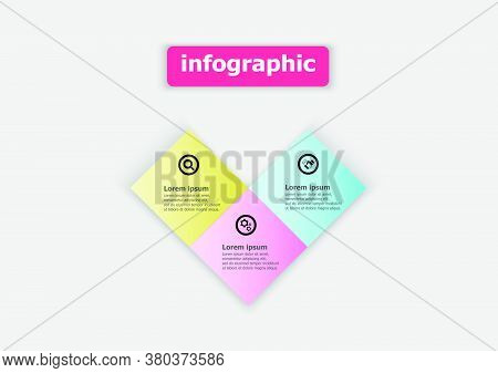Design Squares Connected Together To Form A Heart. Planning Design Presentation Business Infographic