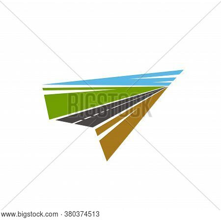 Road Pathway, Highway Icons, Vector Path Way Asphalt And Traffic Drive Route Vector Arrow Sign. Road