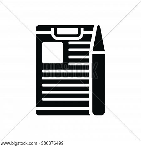 Black Solid Icon For Project-briefing Briefing Discussion Information Conference Preamble Compose Ta