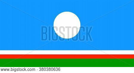 Flag Of Sakha Republic In Russian Federation