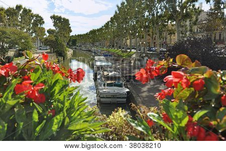 Canal Du Midi In Narbonne