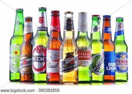 Bottles Of Famous Global Beer Brands