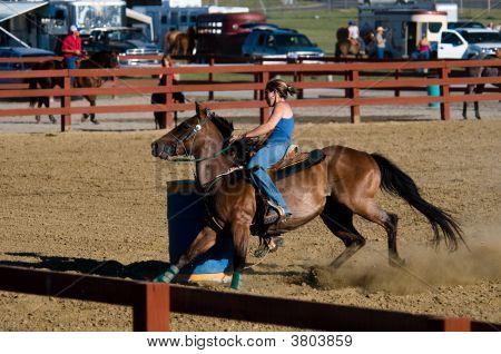 Barrel Racing Demo At Allen County Fair In Lima Ohio