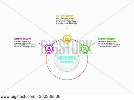 The Circle Vector Design Template For Illustration. Planning Presentation Business Infographic Templ