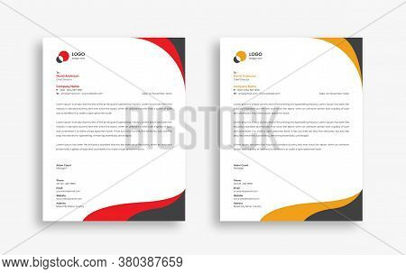 Abstract Corporate Business Style Letterhead Design Vector Template For Your Project. Simple And Cle