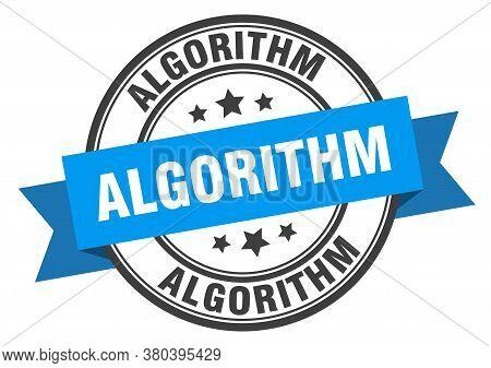 Algorithm Label. Algorithm Round Band Sign. Stamp