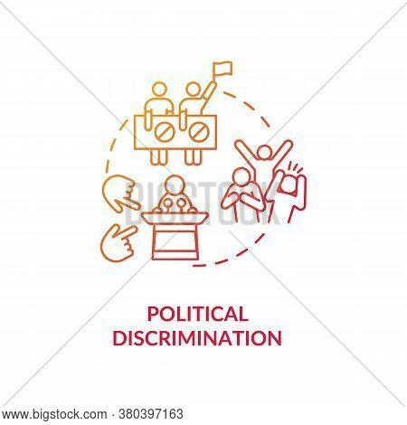 Political Discrimination Concept Icon. Human Rights Mistreatment Idea Thin Line Illustration. Politi