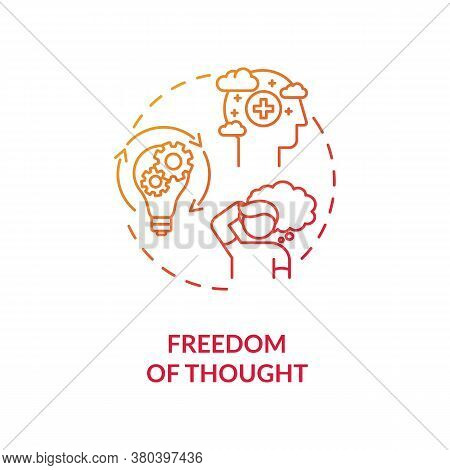 Freedom Of Thought Concept Icon. Viewpoint And Belief Idea Thin Line Illustration. Freedom Of Ideas.