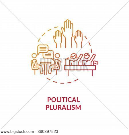 Political Pluralism Concept Icon. Political Philosophy Idea Thin Line Illustration. Populism. Differ