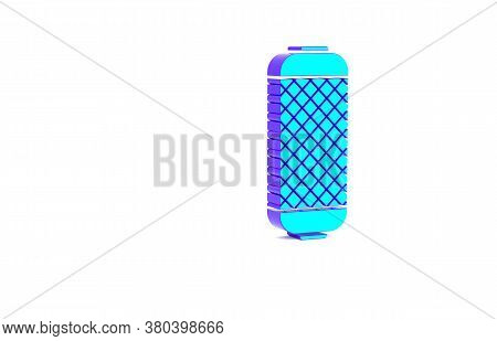Turquoise Stereo Speaker Icon Isolated On White Background. Sound System Speakers. Music Icon. Music