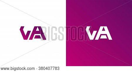 Simple Va Initial Logo Designs Template Vector Illustration