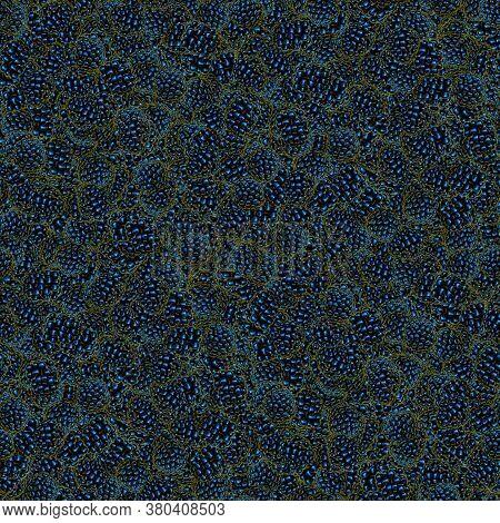 Seamless Berry Pattern Textures. Dark Brambles. Decorative Design Elements