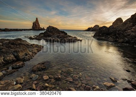 The Sirens Reef Is Located In The Natural Park Of Cabo De Gata. Andalucia. Spain.