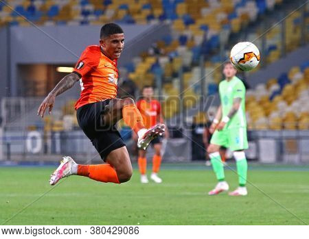 Kyiv, Ukraine - August 5, 2020: Dodo Of Shakhtar Donetsk In Action During The Uefa Europa League Gam