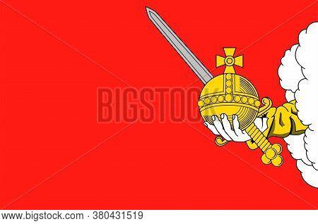 Flag Of Vologda In Russian Federation