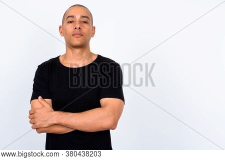 Portrait Of Handsome Multi Ethnic Bald Man