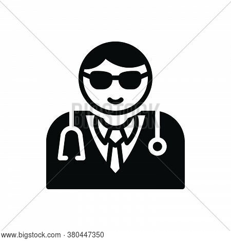 Black Solid Icon For Medical-assistance-man Doctor Physician Provider Helthcare Stethoscope Medical