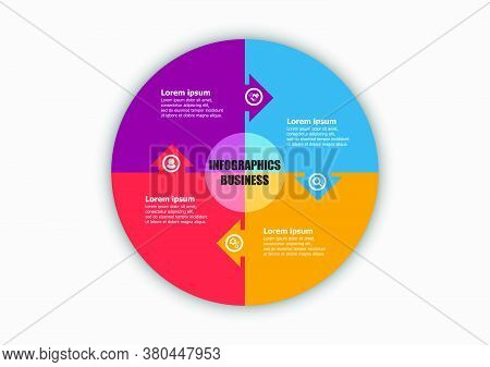 Business Infographic Round Design Template For Illustration. Planning Timeline Infographic Design Bu