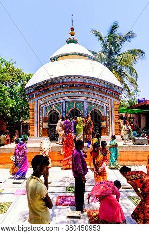 Brajarajpur, Bankura, West Bengal, India - May 6, 2019: Brajarajpur Krishna Temple holy ceremony