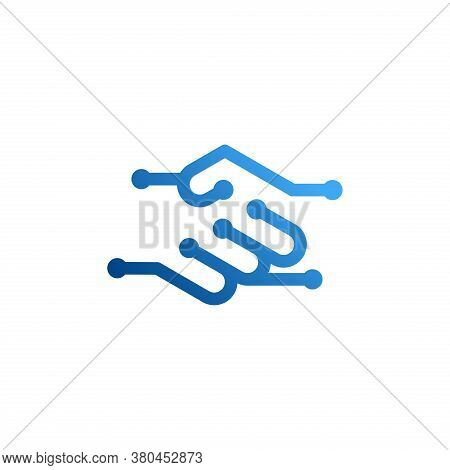 Handshake Vector Icon. Contract Agreement. Business Concept. Deal Symbol.   Handshake Symbol For Log