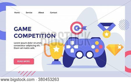 Game Competition Joystick Campaign For Web Website Home Homepage Landing Page Template Banner Flyer