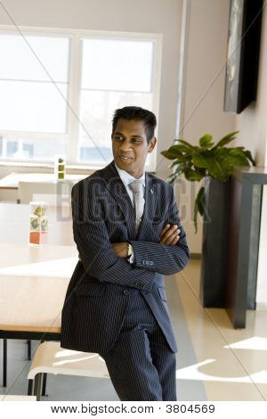 Indian Business Man With Arms Folded