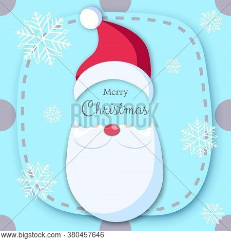 Christmas postcardwith santas face.Christmas background with Shining gold balls. Christmas. Christmas Vector. Christmas Background. Merry Christmas Vector. Merry Christmas banner. Christmas illustrations. Merry Christmas Holidays. Merry Christmas and Happ