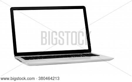 Laptop Isolated On The White Background With Clipping Path
