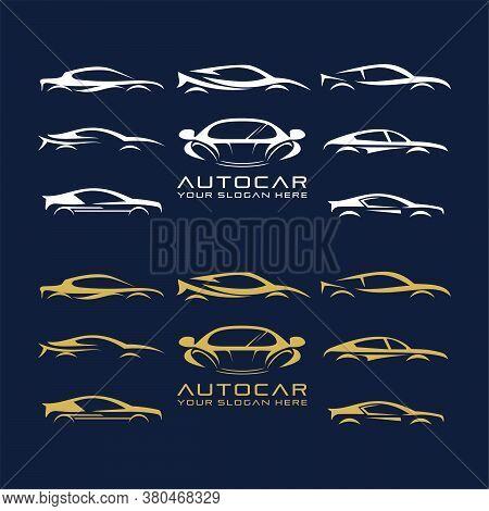 Set Of Abstract Automotive Car Vector, Automotive Logo. Car Logo Vector Illustration For Business An