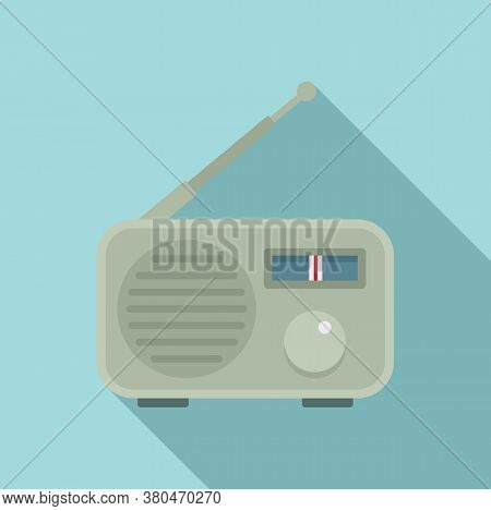 Portable Radio Icon. Flat Illustration Of Portable Radio Vector Icon For Web Design