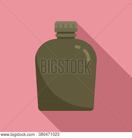 Survival Water Flask Icon. Flat Illustration Of Survival Water Flask Vector Icon For Web Design