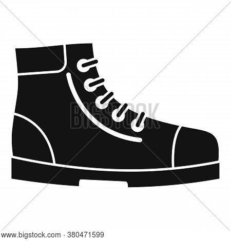 Hiking Boot Icon. Simple Illustration Of Hiking Boot Vector Icon For Web Design Isolated On White Ba