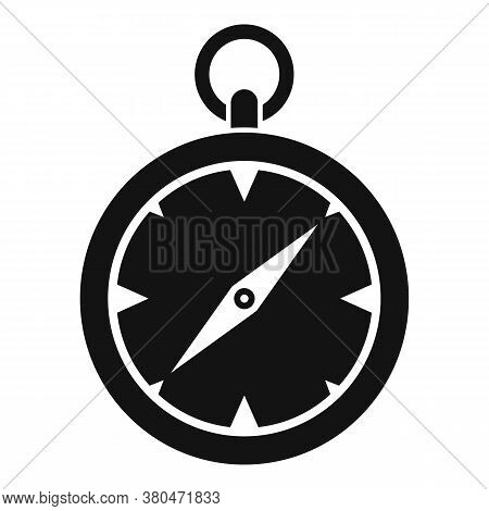 Survival Compass Icon. Simple Illustration Of Survival Compass Vector Icon For Web Design Isolated O