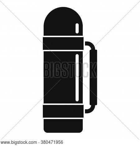 Survival Thermos Bottle Icon. Simple Illustration Of Survival Thermos Bottle Vector Icon For Web Des