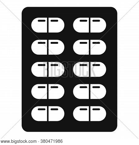 Survival Pills Blister Icon. Simple Illustration Of Survival Pills Blister Vector Icon For Web Desig