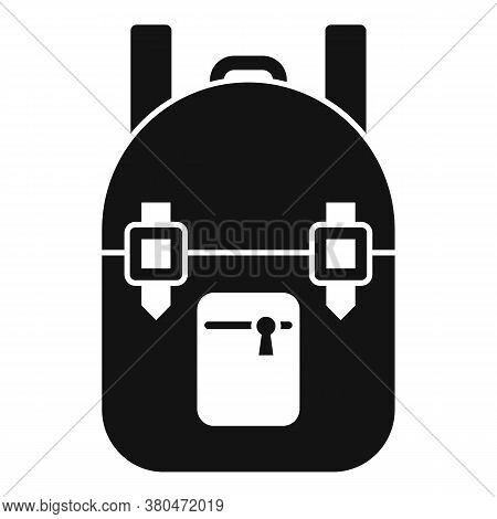 Survival Backpack Icon. Simple Illustration Of Survival Backpack Vector Icon For Web Design Isolated