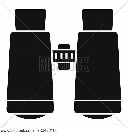 Survival Binoculars Icon. Simple Illustration Of Survival Binoculars Vector Icon For Web Design Isol