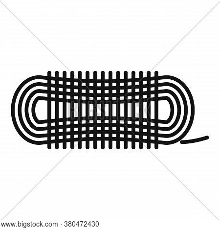 Survival Rope Icon. Outline Survival Rope Vector Icon For Web Design Isolated On White Background