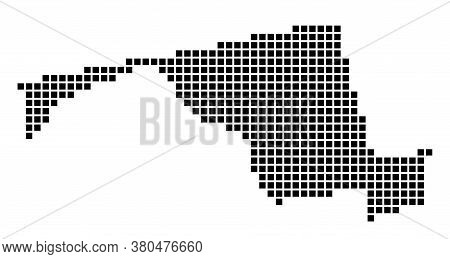 Maryland Map. Map Of Maryland In Dotted Style. Borders Of The Us State Filled With Rectangles For Yo