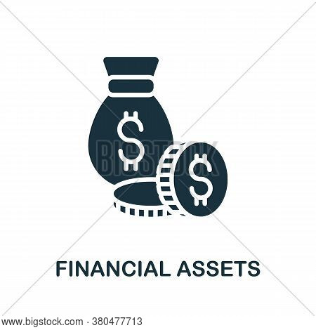 Financial Assets Icon. Simple Element From Investment Collection. Creative Financial Assets Icon For