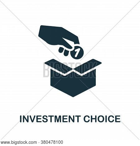 Investment Choice Icon. Simple Element From Investment Collection. Creative Investment Choice Icon F