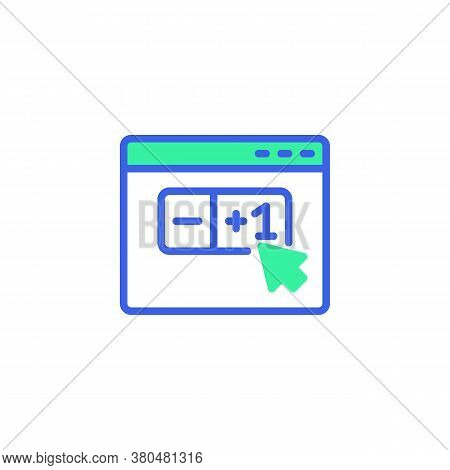 Shopping Items Quantity Icon Vector, Filled Flat Sign, E-commerce, Limited Quantity Bicolor Pictogra