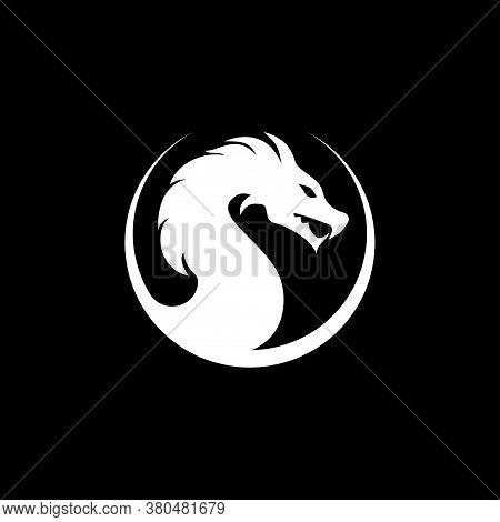 Dragon Icon, Dragon Logo Vector Design Template, Dragon Icon.
